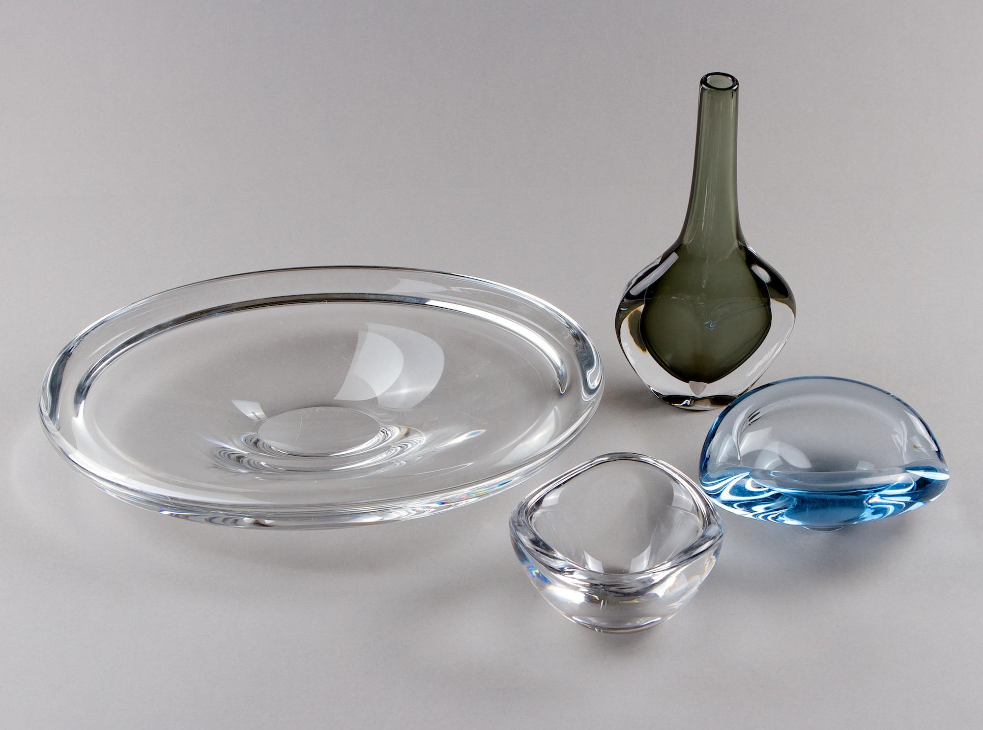 Art glass, 4 pcs