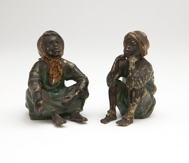Two Vienna cold-painted bronze figures