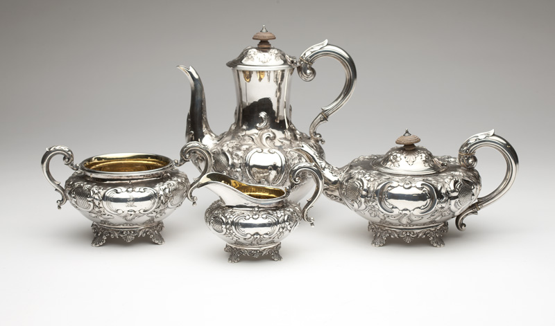 A Victorian sterling silver coffee/tea service