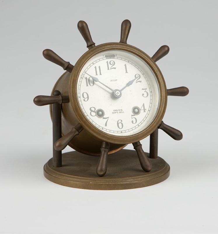 A Chelsea ship's bell tabletop clock, Jessop