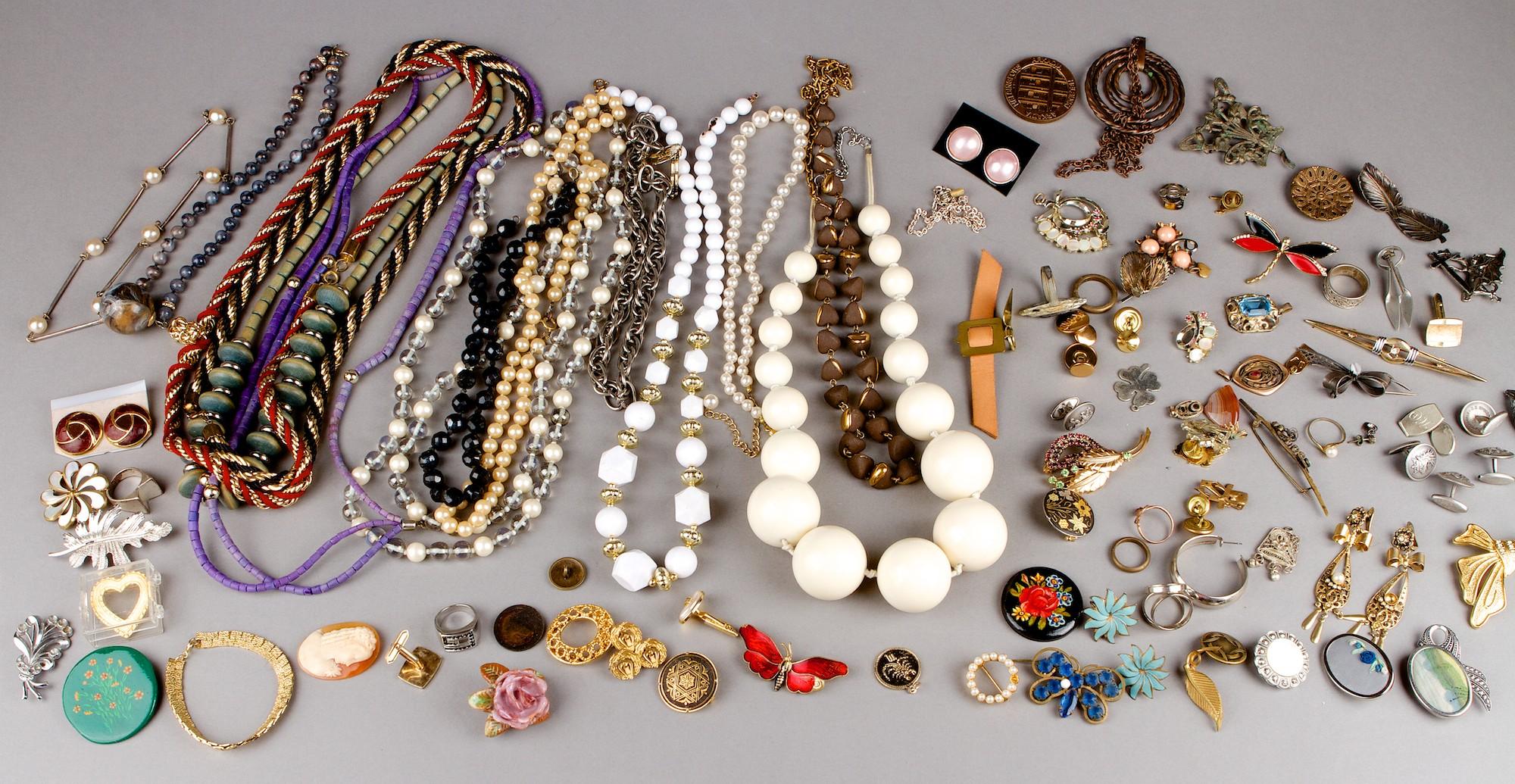 A set of costume jewelry