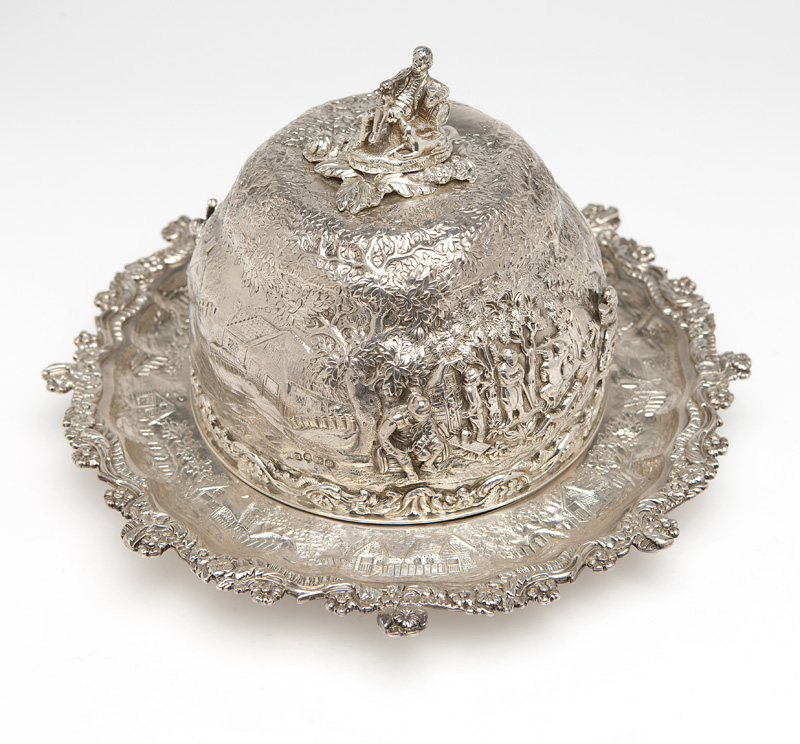 A George IV sterling cheese dome, Edward Farrell