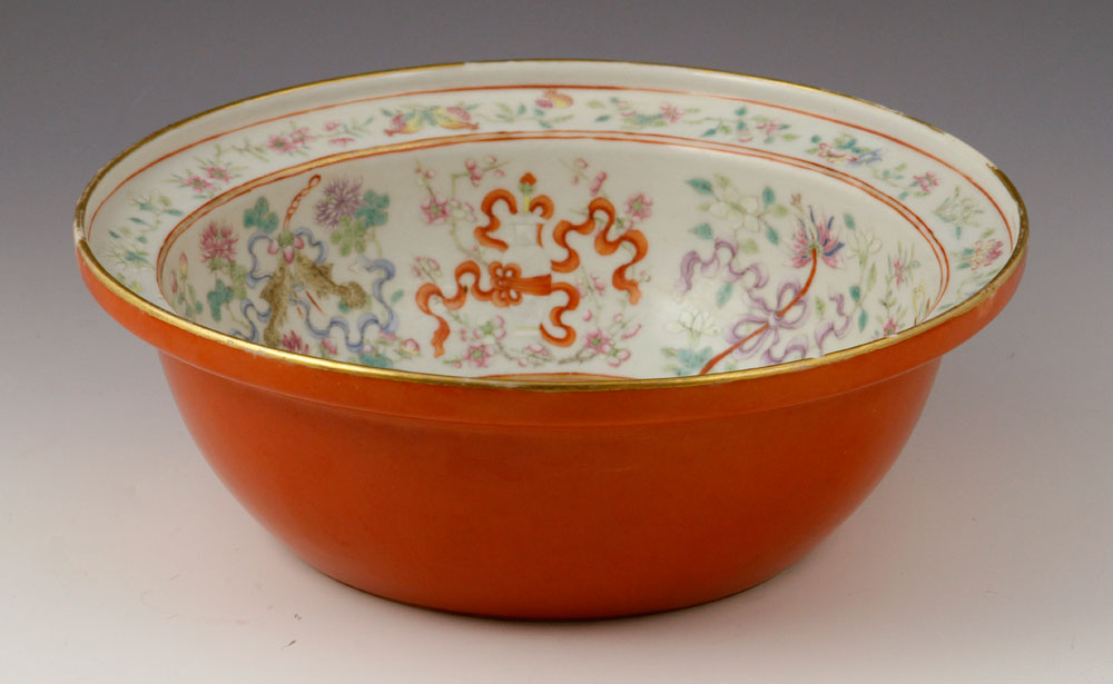 19th century bowl with dragon motif
