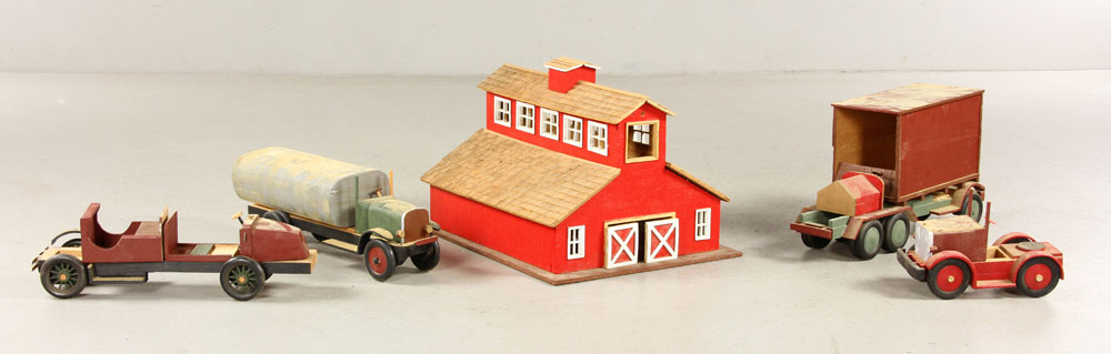 Collection of wooden toys