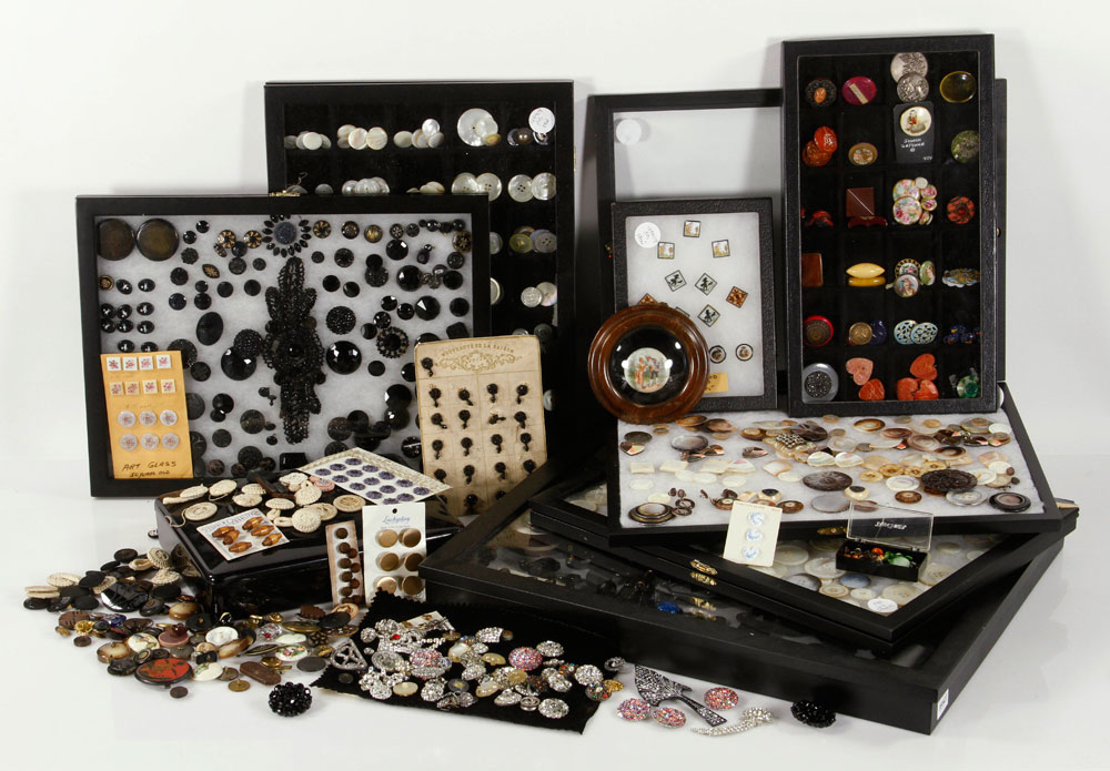 Large collection of buttons, in various sizes and materials