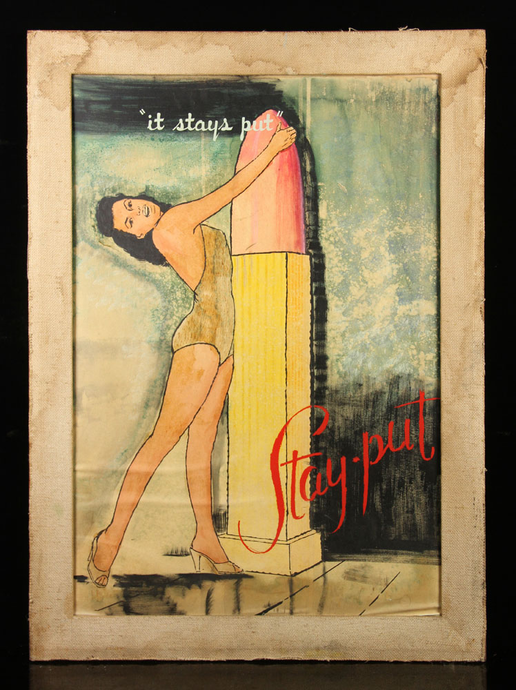 Advertising illustration for stay-put lipstick