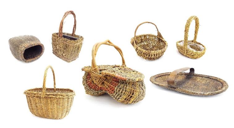 Collection of wicker and other baskets (9)