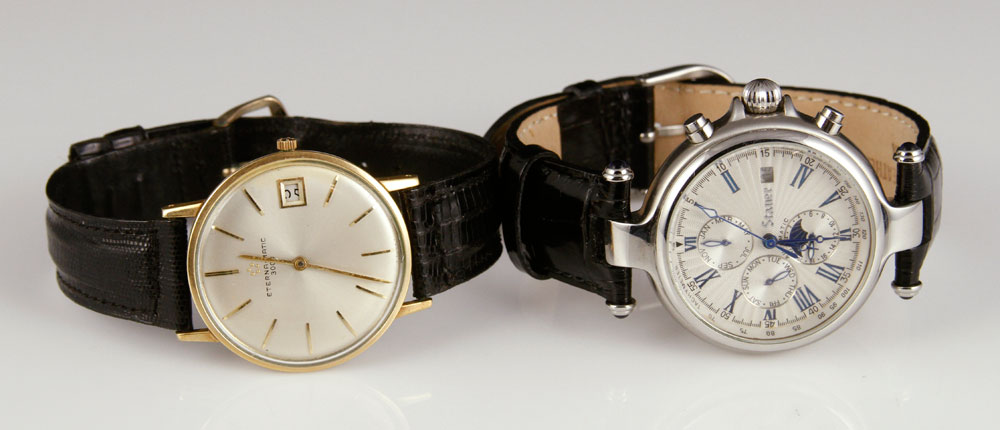 Lot of two men's wristwatches