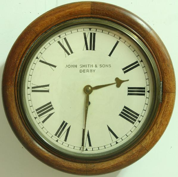 A VICTORIAN STATION CLOCK