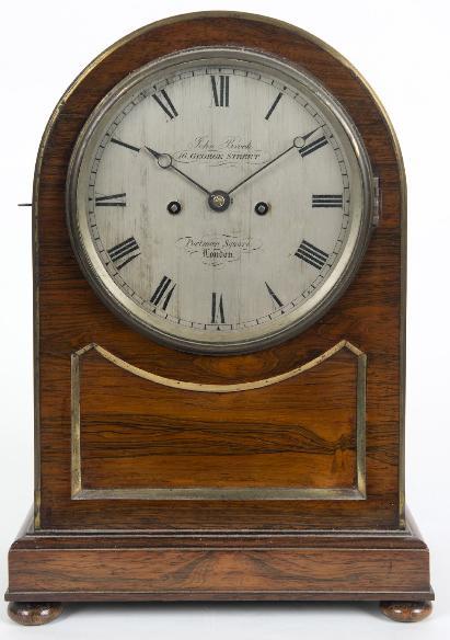 A 19TH CENTURY BRACKET CLOCK
