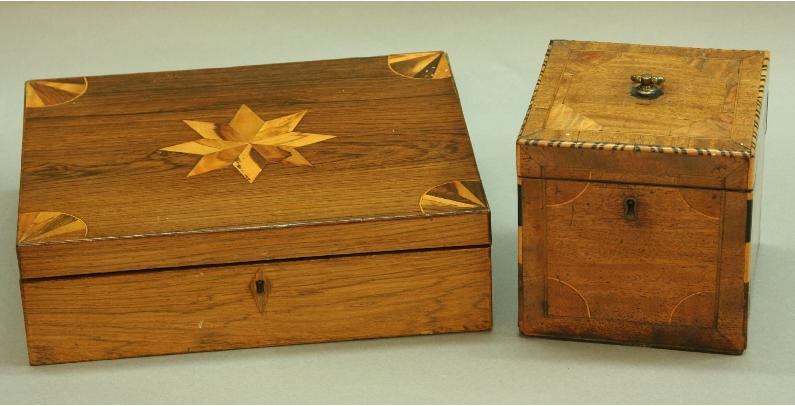 A VICTORIAN ROSEWOOD AND INLAID GAMES BOX