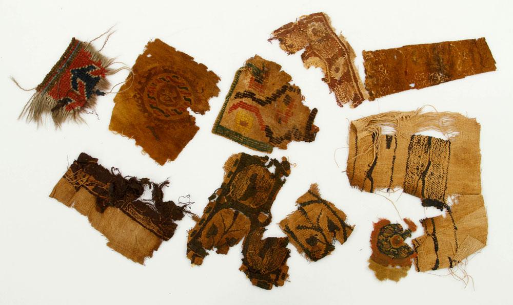 Lot of eleven Coptic textile fragments