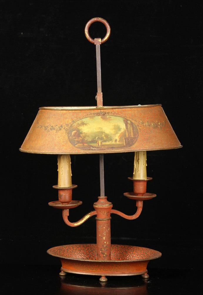 Antique bouillotte lamp