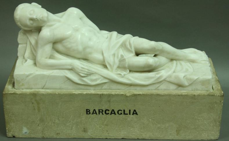 Tracisius the Martyr, Carrara Marble, Artists name to base, 50cm excluding base