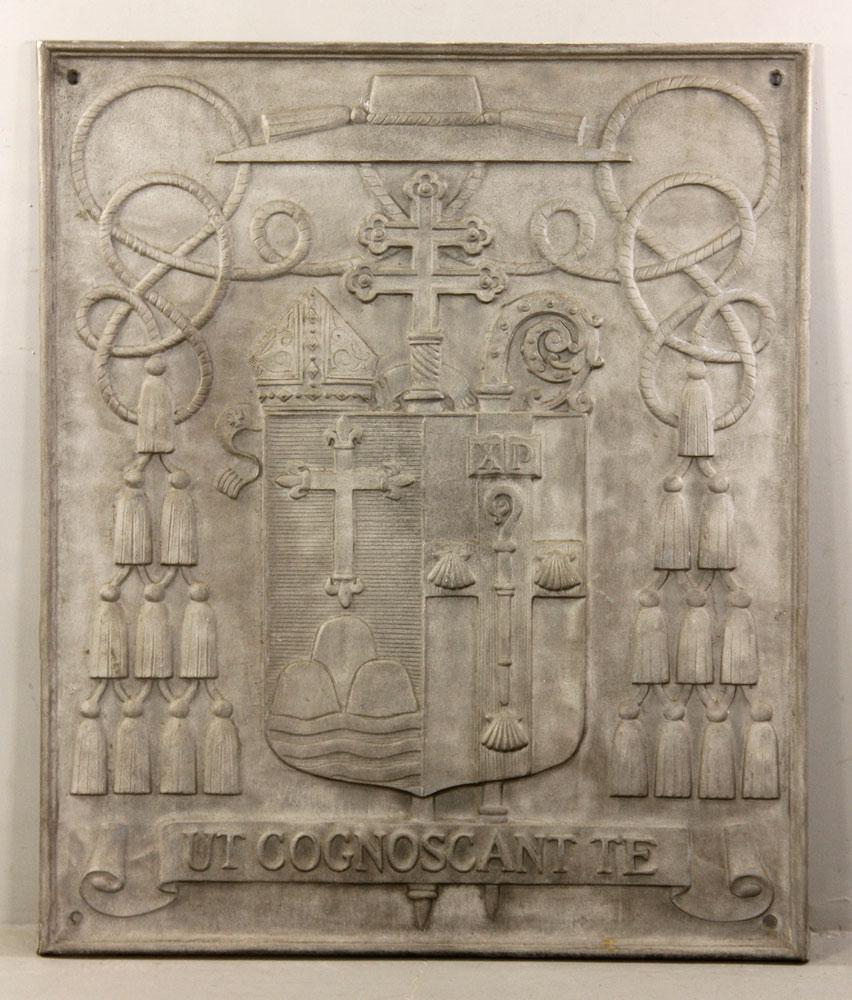 Cardinal Cushing coat of arms plaque
