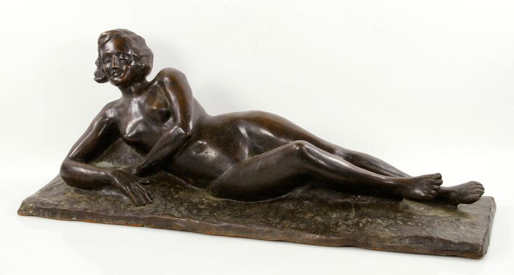 Sculpture of a nude figure