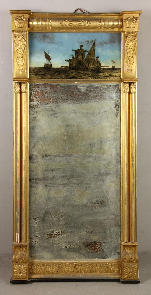 Eglomise giltwood mirror