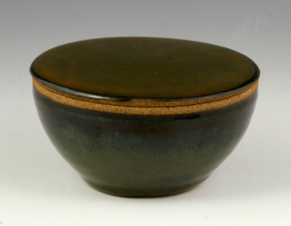 Studio pottery covered bowl
