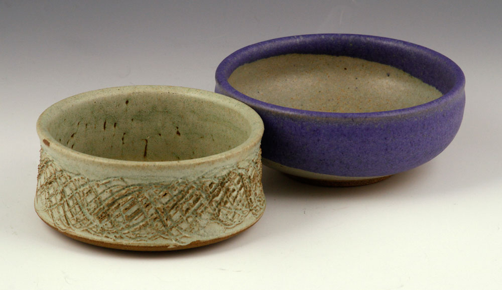 Two studio pottery bowls