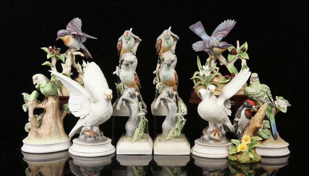Lot of eleven Andrea by Sadek bird figures