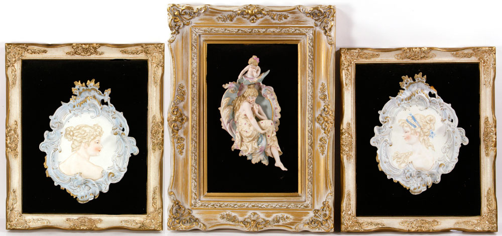 Lot of three French plaques