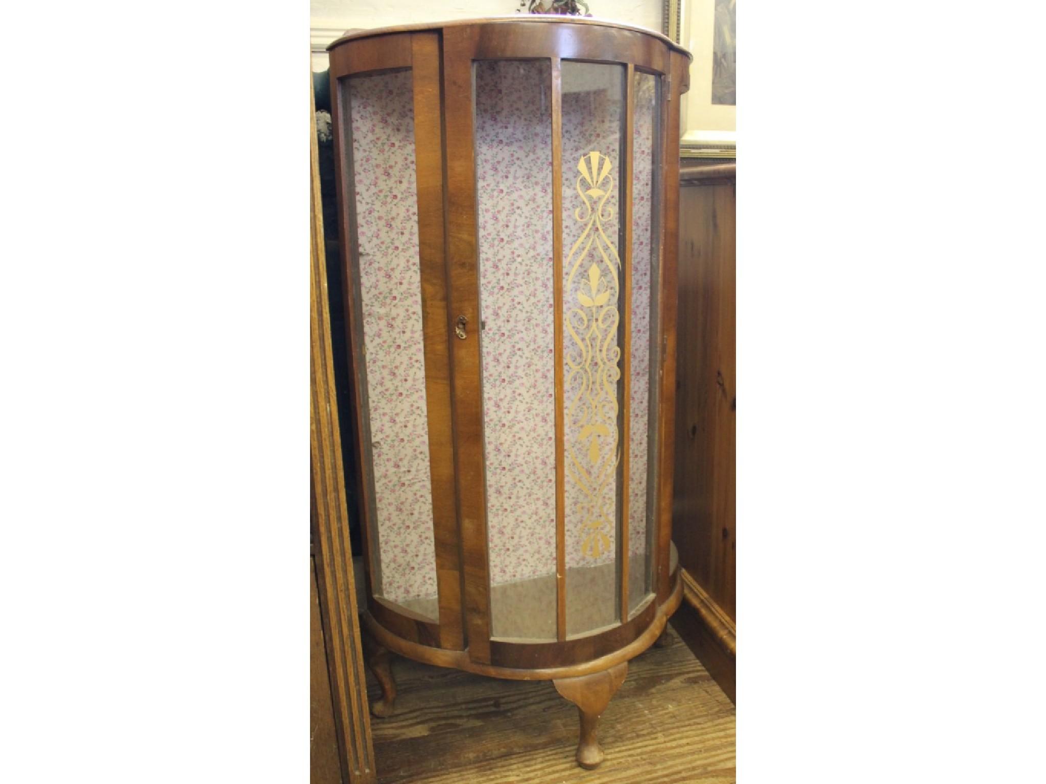 A 1920's glazed display cabinet