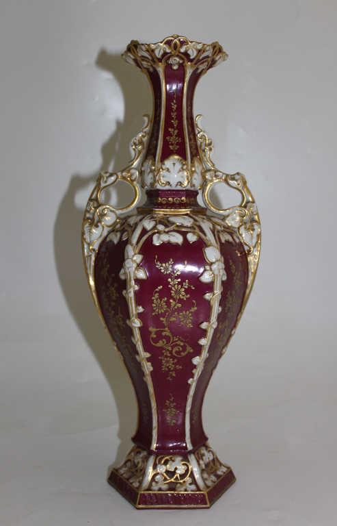 Vase en porcelaine de forme balustre