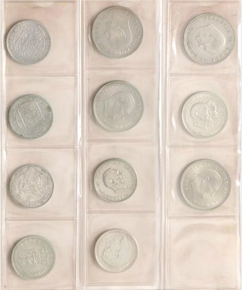 Collection of coins and banknotes, inkl.