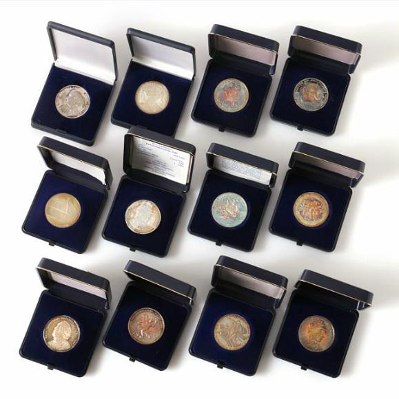 H.C. Andersen, small collection of birthday medals from Panimex