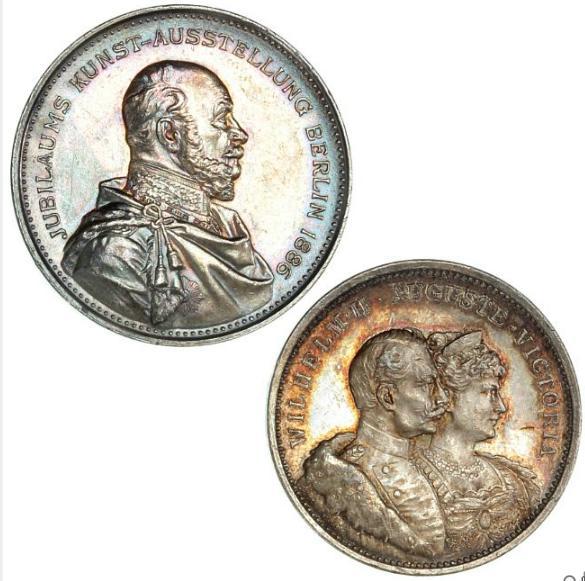 """Germany, 2 silver-medals, """"Jubiläums Kunst-Ausstellung Berlin 1886"""""""