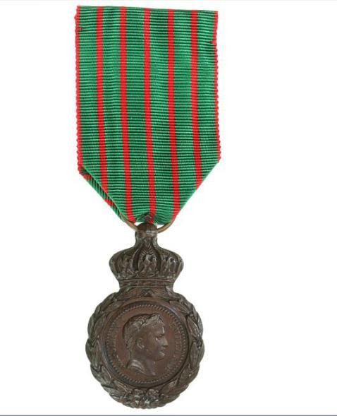 France, Sainte-Héléne medal in bronze, with ribbon