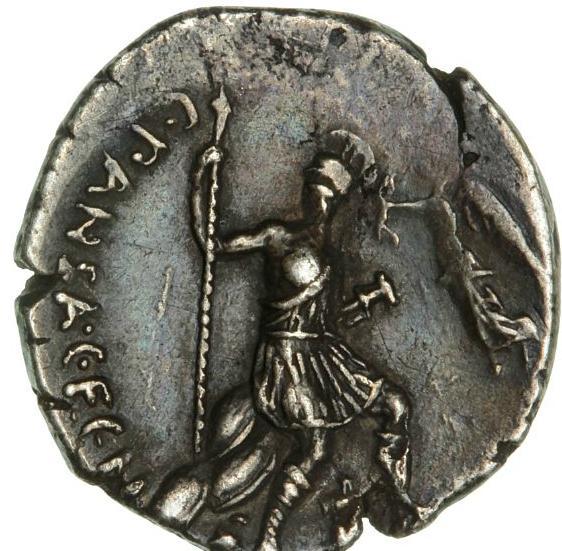 Roman Republic, C. Vibius Pansa, 48 BC, denar, Cr 449/4, Sear 423 - Rare
