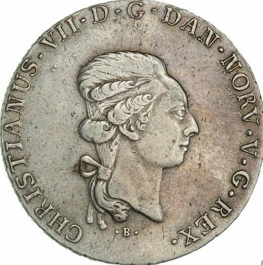 Christian VII, Slesvig-Holsten, speciedaler 1795, Altona, H 39A