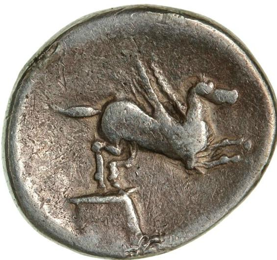 Danubian Celts, imitation of a roman Denarius, 3.21 g, c. 90 BC - 100 AD, reverse og type, Cr 341/1