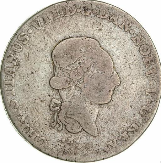 Christian VII, 2/3 speciedaler 1808, H 40