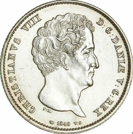 Christian VIII, rigsbankdaler 1848 VS, H 4A, KM 735.1 - choice