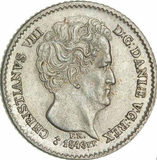 Christian VIII, 8 rigsbankskilling 1843 FF, H 7, KM 737 - choice