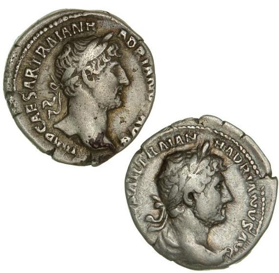 Roman Empire, Hadrian, 117-138, 2 denarii, 3.09 g, RIC 120; 3.16 g, RIC 122. (2)