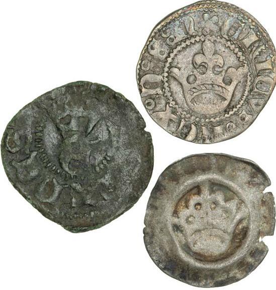 Erik of Pommerania, 1396 - 1439, three different coins