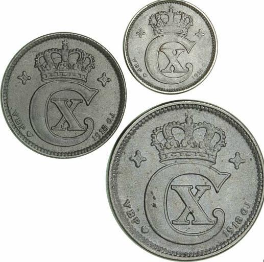 5, 2, 1 øre 1918 VBP, H 15A, 17A, 19A (3)