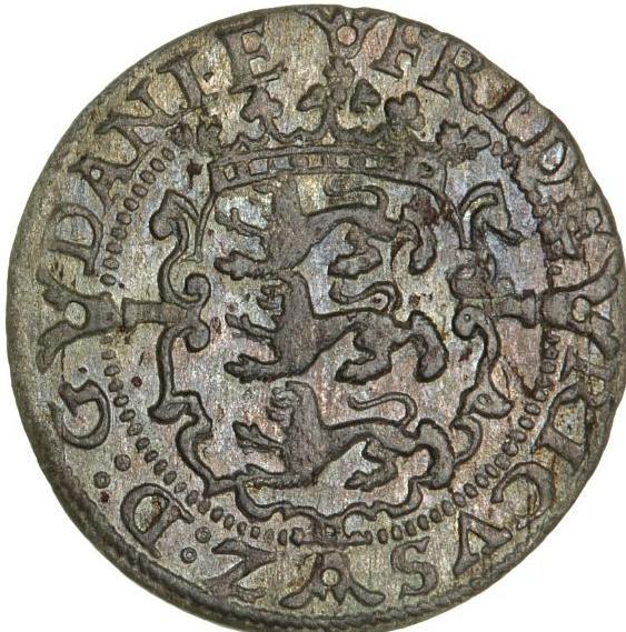 Frederik II, skilling 1583, H 28, Sieg 5, S 19