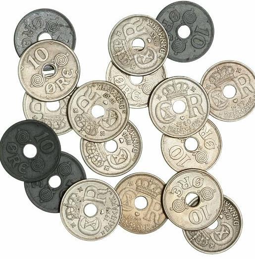 10 øre 1924-1926, 1929, 1933-1934, 1936-1941