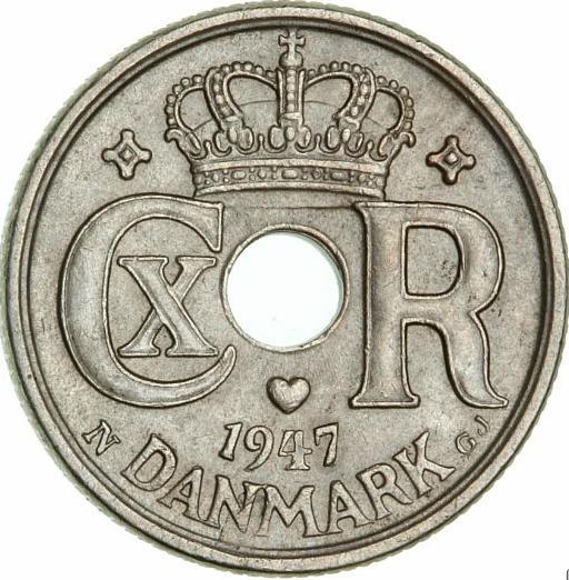 10 øre 1947 N, H 26B