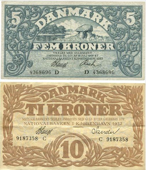 5 kr 1922 D, Lange