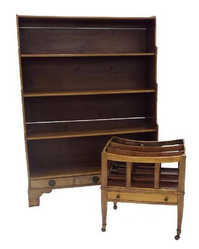 19th century style mahogany waterfall bookcase