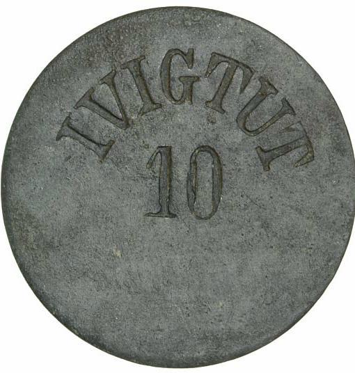Greenland, Ivigtut, 10 øre ND (1875-1922), Sieg 20.III