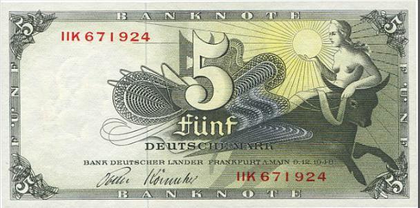 Germany, 5 Mark 1948, Pick 13