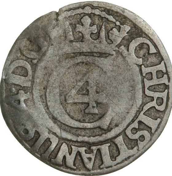 Christian IV, Glückstadt, søsling 1641, H 178A, S 60, rare