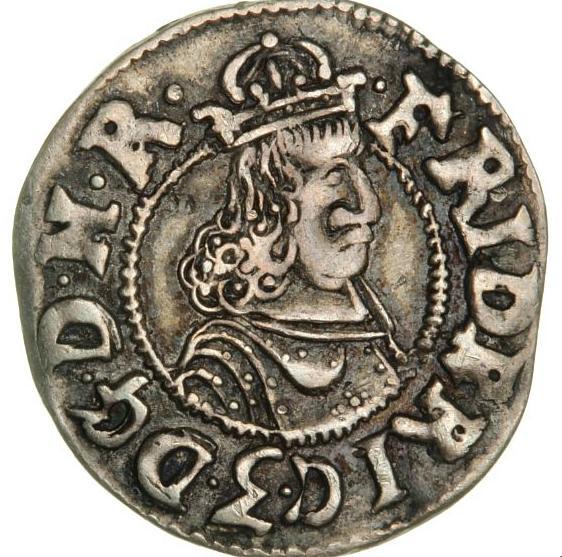 Frederik III, Glückstadt, 3 skilling lybsk 1658, H 149, cf. S 60