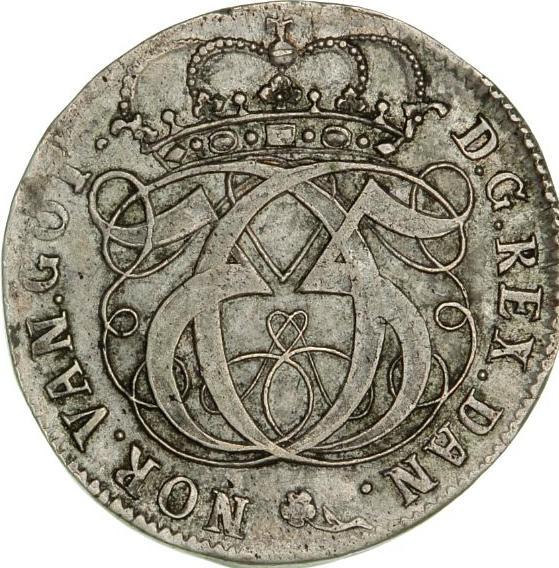 Christian V, 2 mark / halvkrone 1691, H 93A, S 36, Aagaard 63